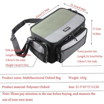 Multifunctional Fishing Bag Oxford Fishing Reel Lure Gear Storage Case Outdoor Carp Fishing Tackle Shoulder Crossbody Bags PJ139 2