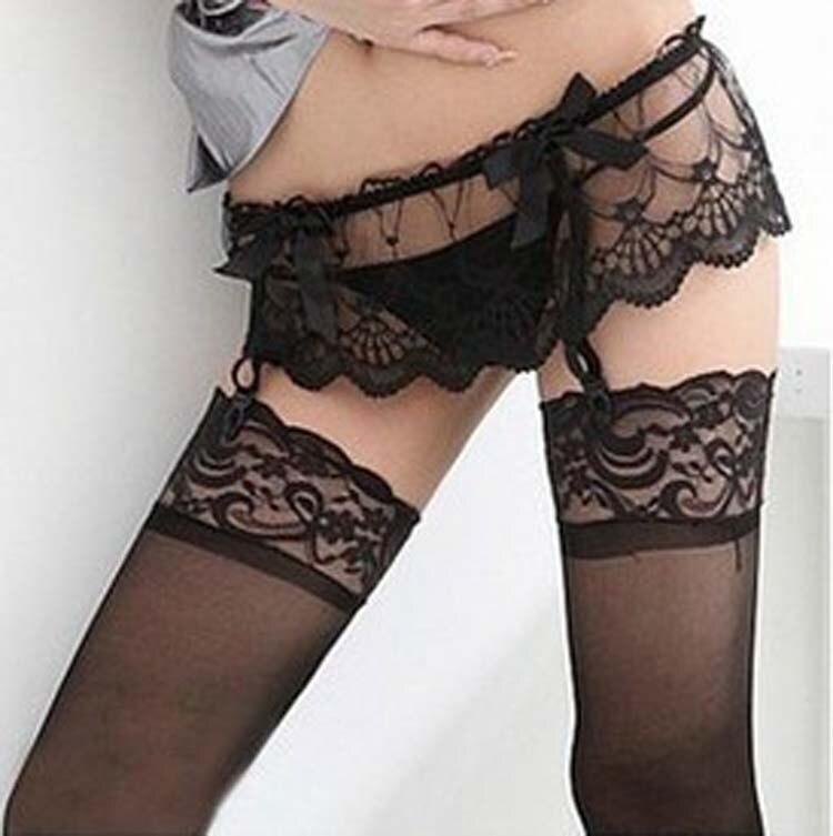 Ladies Sexy Stocking Garter Women Girls Fashion Floral Lace Suspender G-String Hold Stocking Garter Belts 2019 Hot Selling