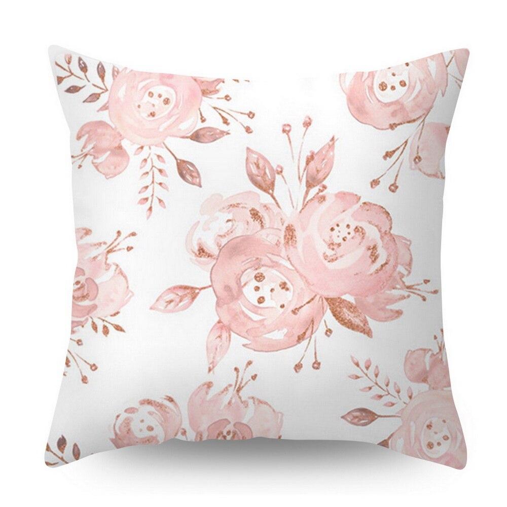 Розовое золото квадратная подушка крышка с геометрическим рисунком сказочной подушка чехол полиэстер декоративная наволочка для подушки для домашнего декора размером 45*45 см - Цвет: Красный