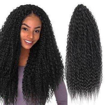 YxCheris syntetyczne włosy plecione włosy Afro Yaki perwersyjne kręcone miękkie Ombre szydełkowe włosy plecione rozszerzenia Marly włosy dla czarnych kobiet