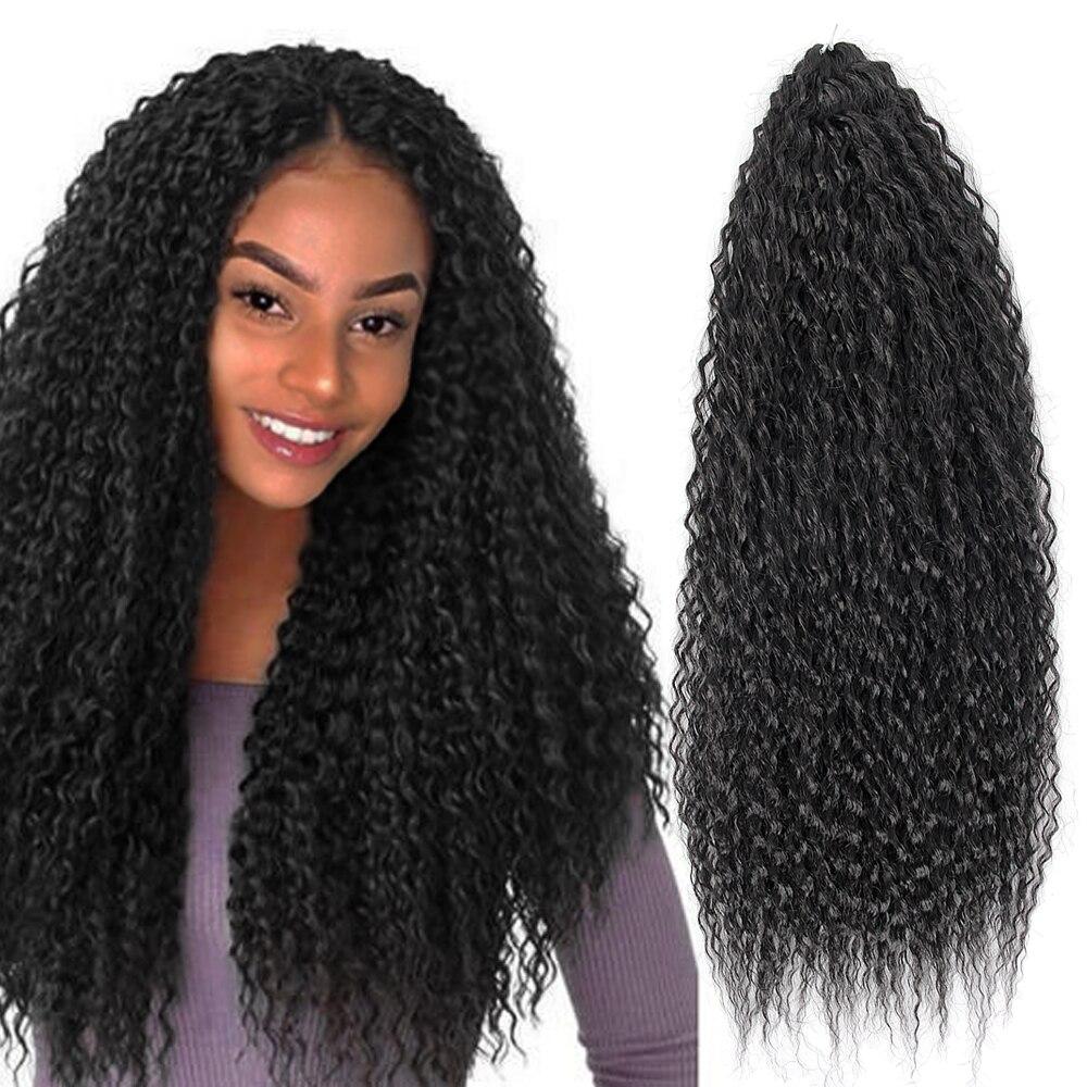 Yxcheris cabelo de crochê sintético afro yaki kinky encaracolado macio ombre crochê trança extensões de cabelo marly cabelo para preto