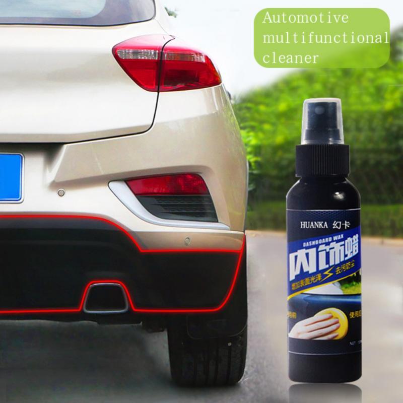 Car Plastic Parts Retreading Agent Leather Care Interior Cleaner Auto Scratch Repair Liquid Polishing Spray Car Care Accessories