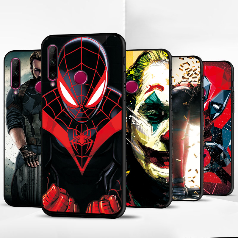For Hauwei <font><b>Honor</b></font> <font><b>10i</b></font> 20i <font><b>Case</b></font> Cover Black TPU Soft Phone <font><b>Case</b></font> For <font><b>Honor</b></font> 9 10 20 Lite <font><b>Cases</b></font> Captain America <font><b>Honor</b></font> 8A 8X 8C Bags image