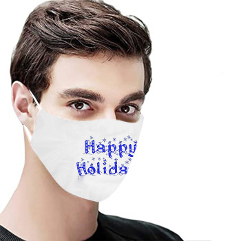 H-appy New Year 2021 Adult Cotton Mask Solid Color Breathing Masque Facial Mask Dustproof Windproof Washable Mascarillas#30 image