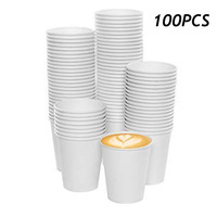 100 Pcs White Hot Drink Paper Cups And Cold Drink Paper Cups 180 ML Environmentally Friendly Paper Cup 2019 New