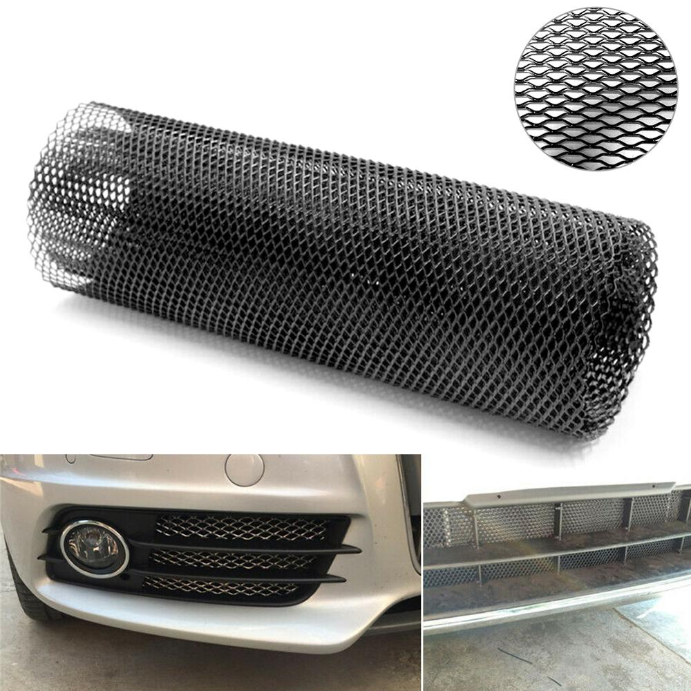 Hot Sale Hexagonal Aluminum Mesh Grill Cover Car Bumper Fender Hood Vent Grille Net Universal Black Wholesale Quick delivery CSV