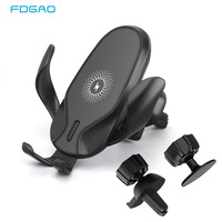 FDGAO 15W Fast Wireless Car Charger Mount For IPhone 11 XS XR X 8 Qi Charging Stand Gravity Car Phone Holder for Samsung S10 S9|Wireless Chargers| |  -
