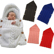 Get more info on the Newborn Baby Cute Knitted Crochet Hooded Sleeping Bags Babies Swaddle Wrap Swaddling Blanket Sleep Bag