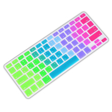 For Apple Pro 13 15 inch Air 13 Retina 13 Silicone Keypad Skin Protector Flower Decal Rainbow Keyboard Cover