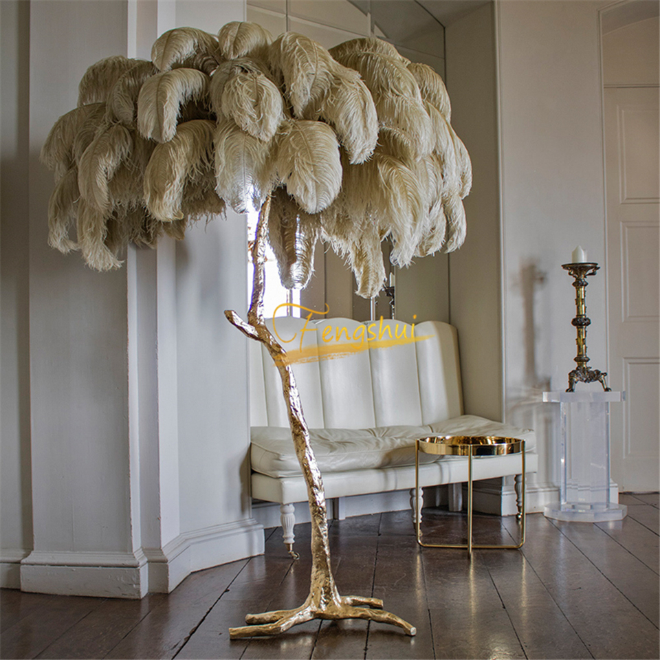 de avestruz, estilo nórdico, para decoração interior