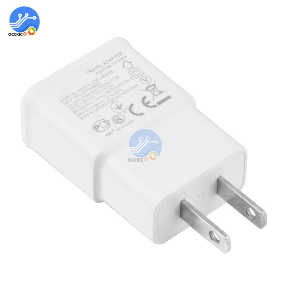 5V 2A USB Charger Head American US Plug Adapter Power Adapter Adaptor White 1-Port Wall Charger Quick Charge Travel Household