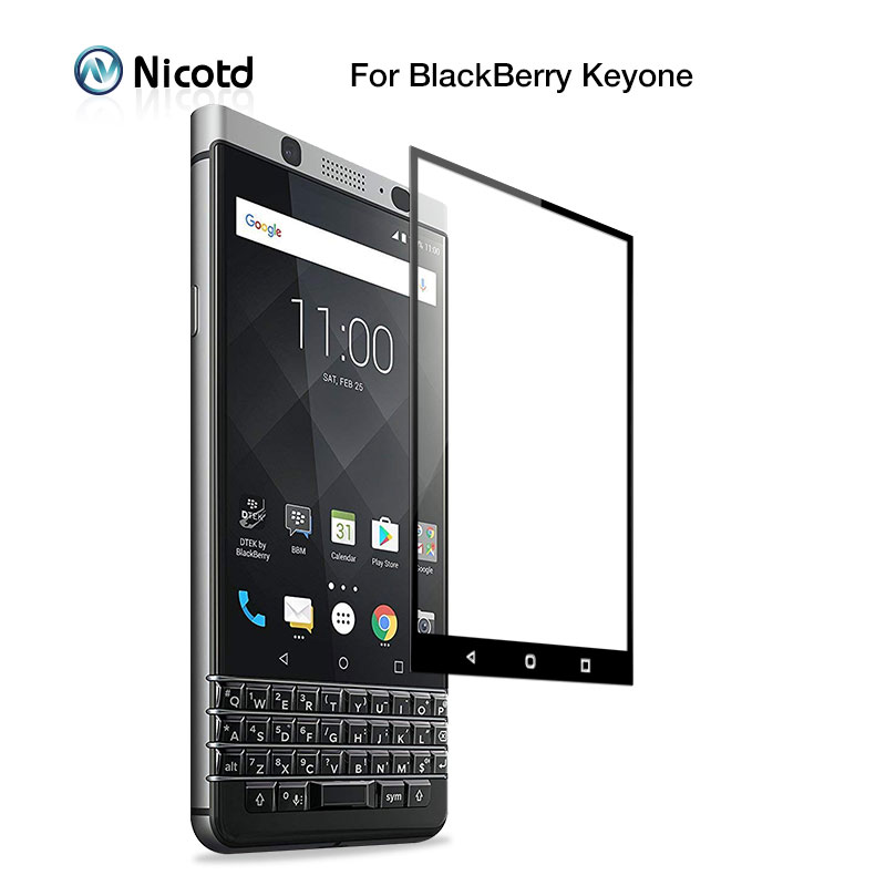 2Pcs Full Cover Protective Glass for Blackberry Keyone 9H Tempered Glass For Blackberry Key2 Screen Protector Guard Film(China)