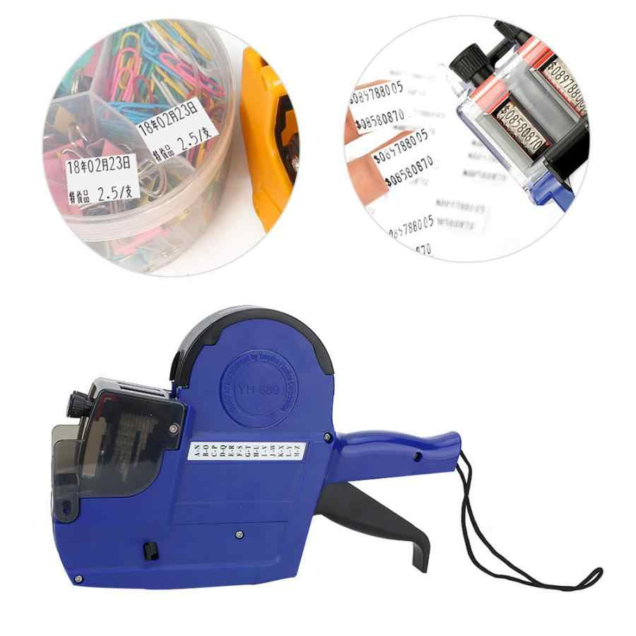 39860b759a85 Handheld High Quality Price Label Printer Replaceable Ink Wheel ABS  Engineering Plastic 2 Lines Price Tag Gun 3 Colors