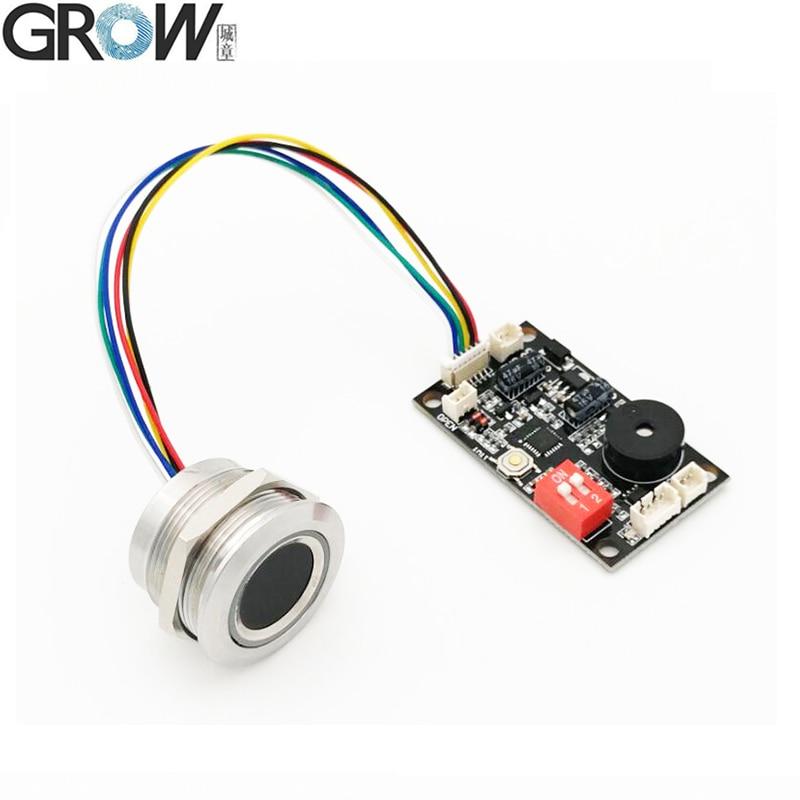 GROW K200-3.3+R503 Two-Color Ring Indicator Light Door Access Control Capacitive Fingerprint Access Control Board