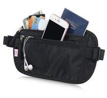 купить waist bag  Water Resistant Hidden Blocking Passport Phone Holder Anti-Theft Travel Money Belt Wallet Bag дешево