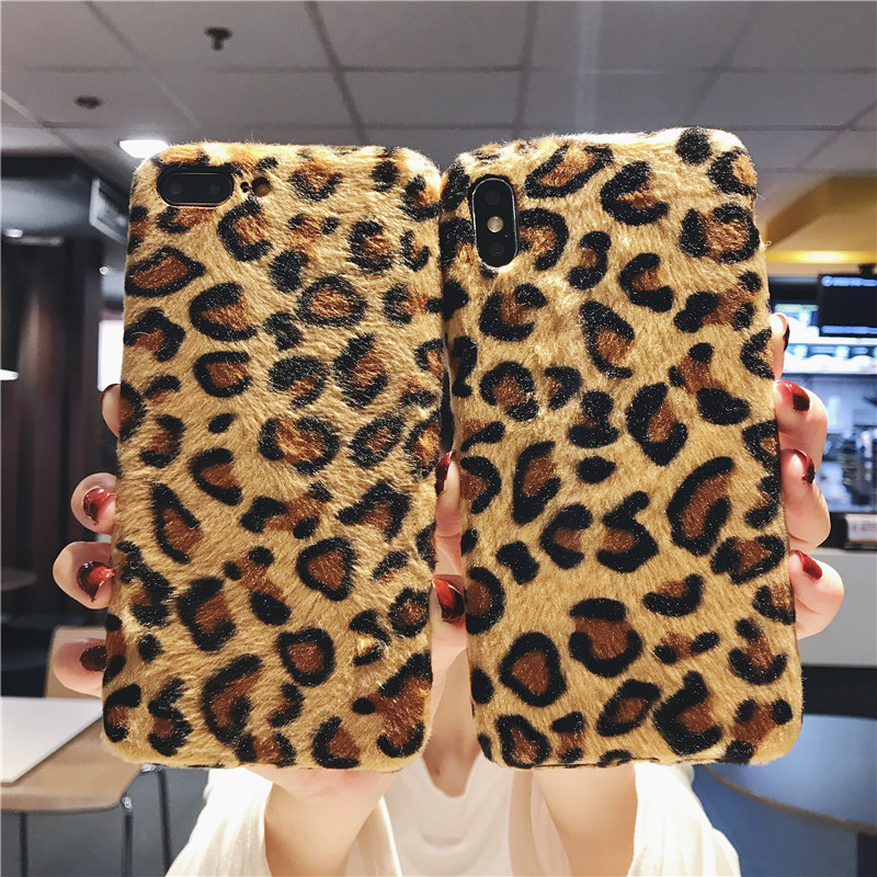 <font><b>Sexy</b></font> Velvet Fabric art Leopard Prain Shockproof Silicone Phone <font><b>Case</b></font> For <font><b>iPhone</b></font> 11 Pro Max XR X XS Max 6S <font><b>7</b></font> 8 Plus TPU Back Cover image