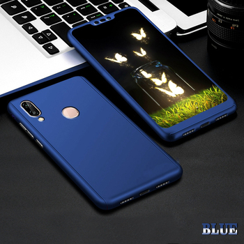 360 Full Cover Protective Case+Glass For Samsung Galaxy S20 Ultra S8 S10 S9 Plus Note 10 S 7 A50 A70 A71 A51 A40 S6 S7 Edge A 70 - For Note 8, Blue