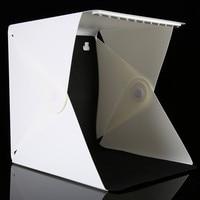 LED Panels Magnet Folding Portable Photo Video Box Lighting Studio Shooting Tent Box Kit 6 Background Studio Softbox Lightbox