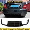 Задний спойлер для Benz W204 C63  спойлер из углеродного волокна для Benz W204 C-Class C200 C220 C260 C300 C63 AMG  спортивный бампер 2012 2013 2014