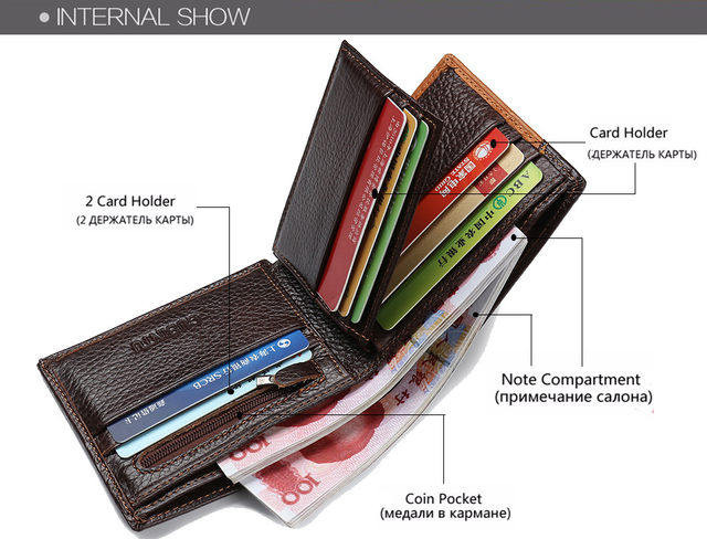 H8f3c1640c8a7474d8f0e114c5596de89P - GUBINTU Genuine Leather Men Wallets Coin Pocket Zipper Real Men's Leather Wallet with Coin High Quality Male Purse cartera