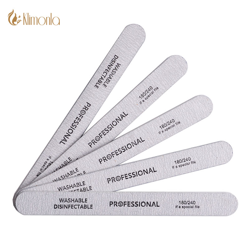 Серые деревянные пилки для салонного маникюра, педикюра, подготовки ногтей к покрытию гелем (10 шт)