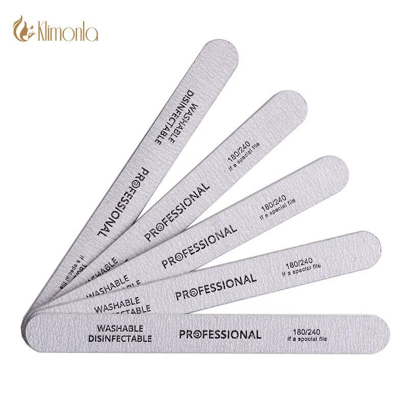 Lixa de unha cinza 180/240, lixa de unha cinza, polidor de gel uv para manicure e pedicure, ferramentas de manicure e pedicure, com 10 peças salão de beleza