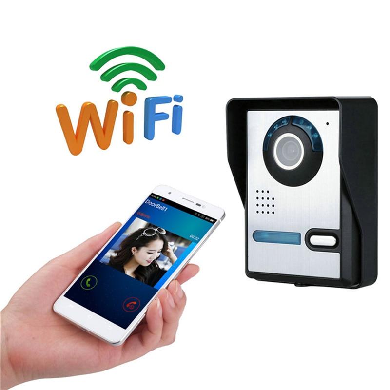 Wireless IP WIFI Doorbell Camera Video Door  Intercom System  Night Vision Waterproof 720P Door Intercom Camera Support 8 users Video Intercom     - title=