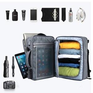 Image 3 - MOYYI iş seyahat çift bölmeli sırt çantaları ile çok katmanlı benzersiz dijital çanta 15.6 inç dizüstü bilgisayar için erkek sırt çantası
