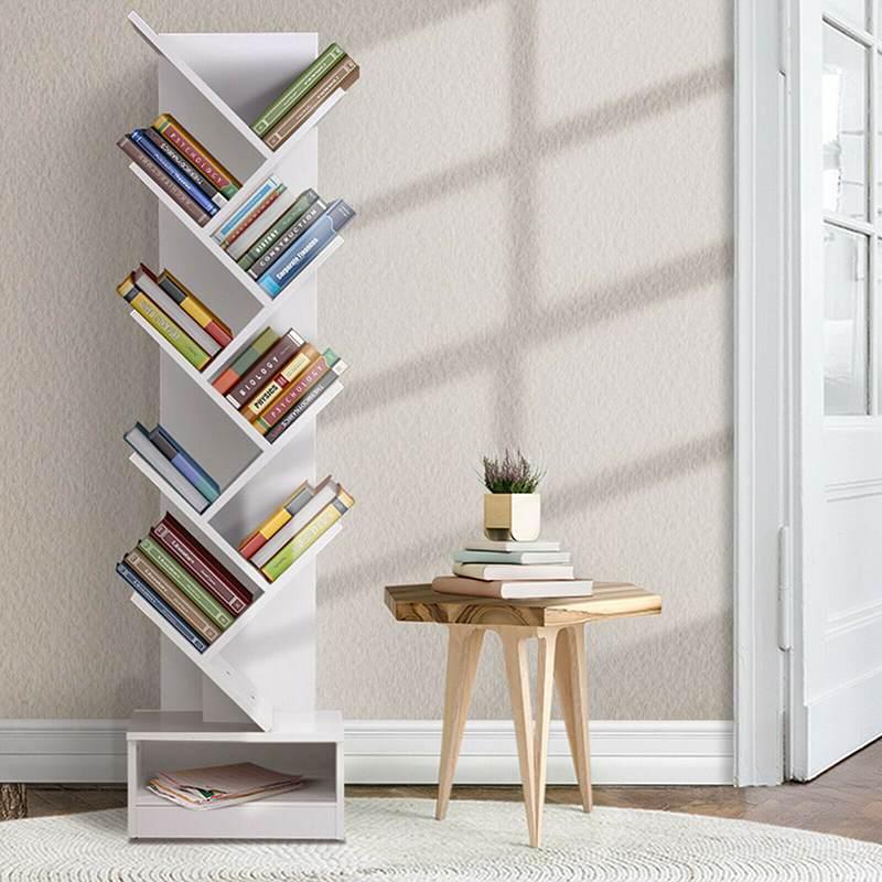 Estantería de 9 niveles, moderna y sencilla sala de estar, para ahorrar espacio, creativa, en forma de árbol, gran capacidad, tipo de piso, estantería