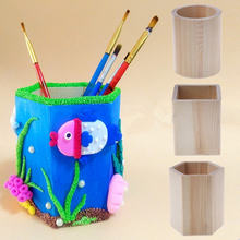 Creative Multi-function Creative Bamboo Made Desk Stationery Organizer Pen Pencil Holder Storage Box Case Square Container(China)