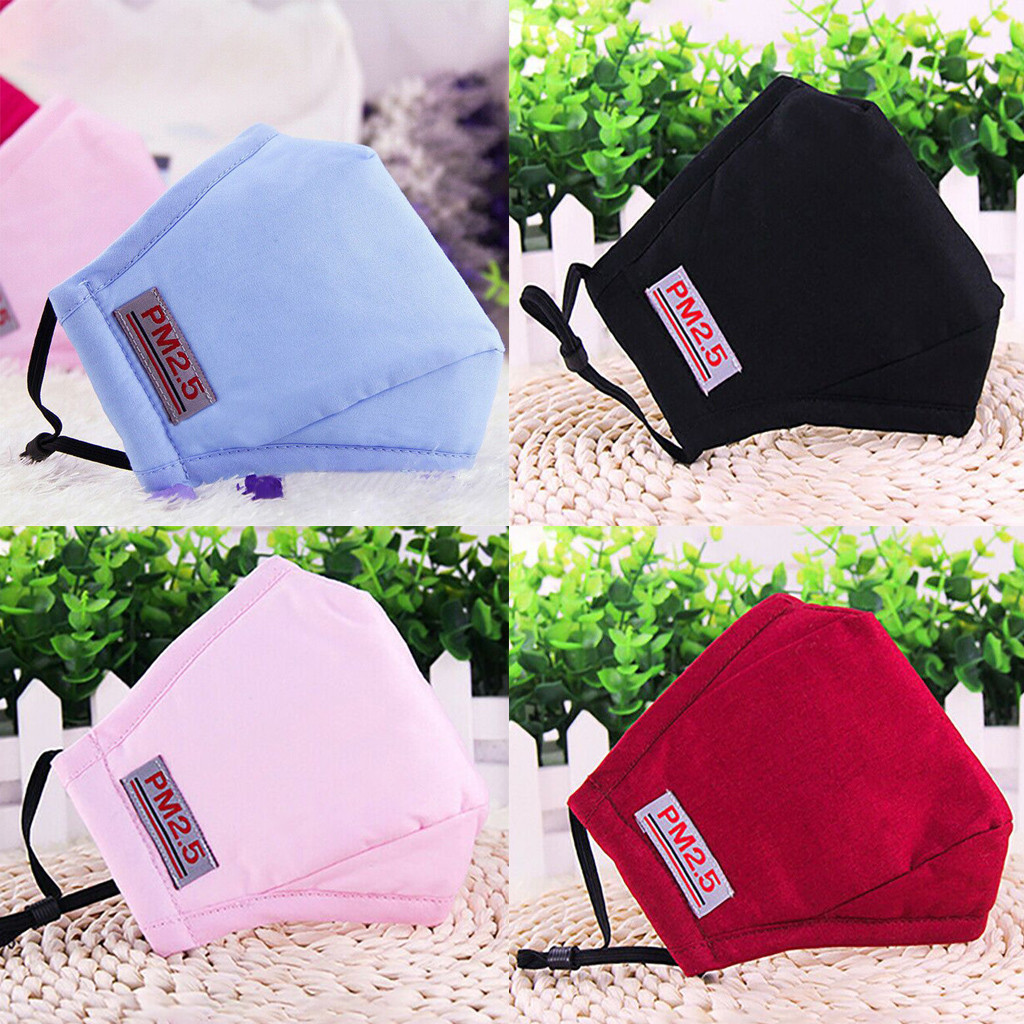 New Cotton PM2.5 Mask Mouth Face Mask Anti-Dust Mouth Respirator Anti Haze PM2.5 Washable Reusable Masks Blue Pink Red Black