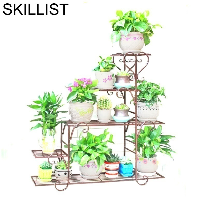 Dekarosyon Decorer Balcon Scaffali In Metallo A Ripiani Decoration Decor Iron Balcone Flower Balkon Stand Balcony Plant Shelf