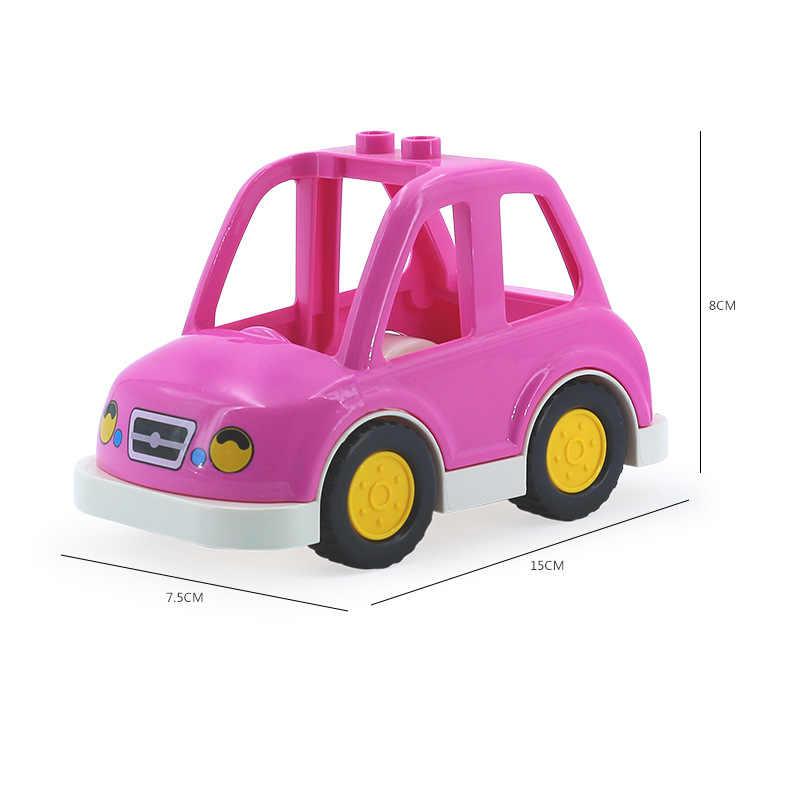 City Street ฐานแผ่นใช้งานร่วมกับ Duplo รถ Technic บล็อกอาคาร Baseplate ชุดเด็กการศึกษาของเล่น