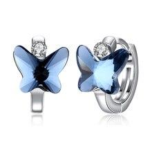 Горячая Распродажа, серьги-бабочки с кристаллами Swarovski, Висячие серьги-капли, модные ювелирные изделия для свадьбы
