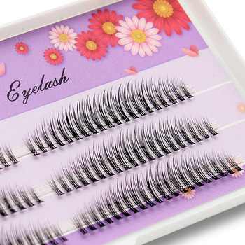 Kimcci 120pcs C/D/DD Curl Natural 3D Eyelash Extension 8-12mm Mix Length Mink Eyelashes Makeup False Fake Lashes Grafting Cilios