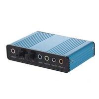 6 каналов звуковая карта USB внешний цифровой оптический SPDIF оптический аудио для ПК