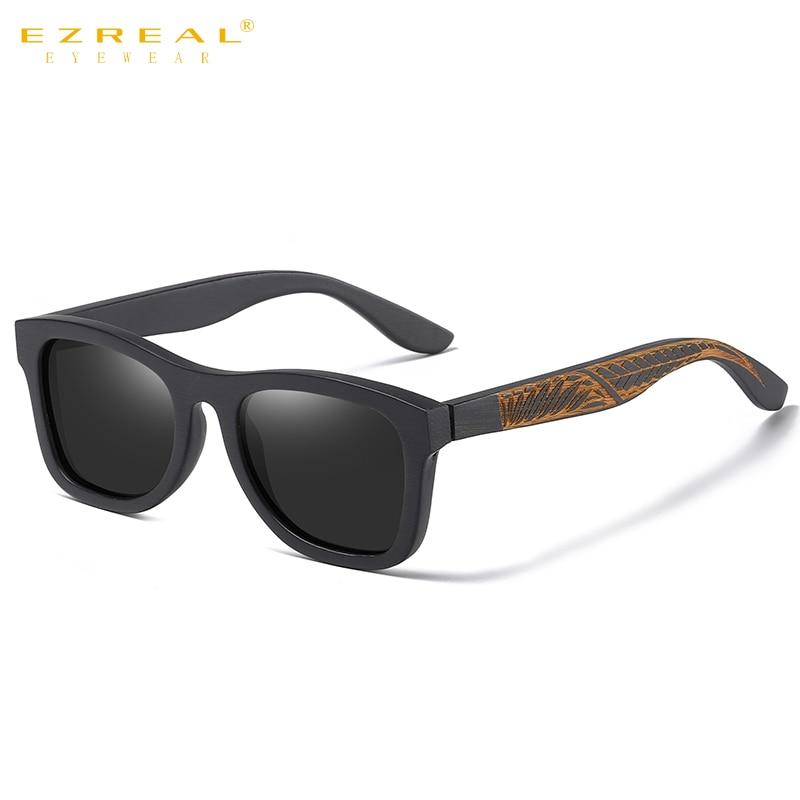 EZREAL Retro Wood Sunglasses Men Polarized Wooden Frame Glasses Women Shades UV400 Lunette De Soleil Homme Femme S1610L