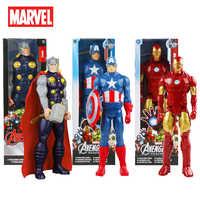 Figuras de acción de Los vengadores de Marvel, Spiderman, Hulk, Thor, juguetes calientes, Iron Man, regalo para niños