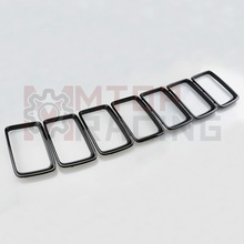 Black Grille Vent Trim Ring Insert Cover For Jeep Grand Cherokee 2014 2015 2016