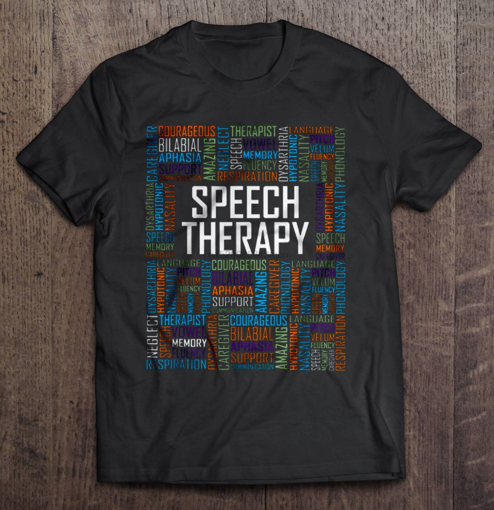 Men Funny T Shirt Fashion tshirt Speech Therapy Caregiver Courageous Bilabial Aphasia Therapist Women t-shirt(China)