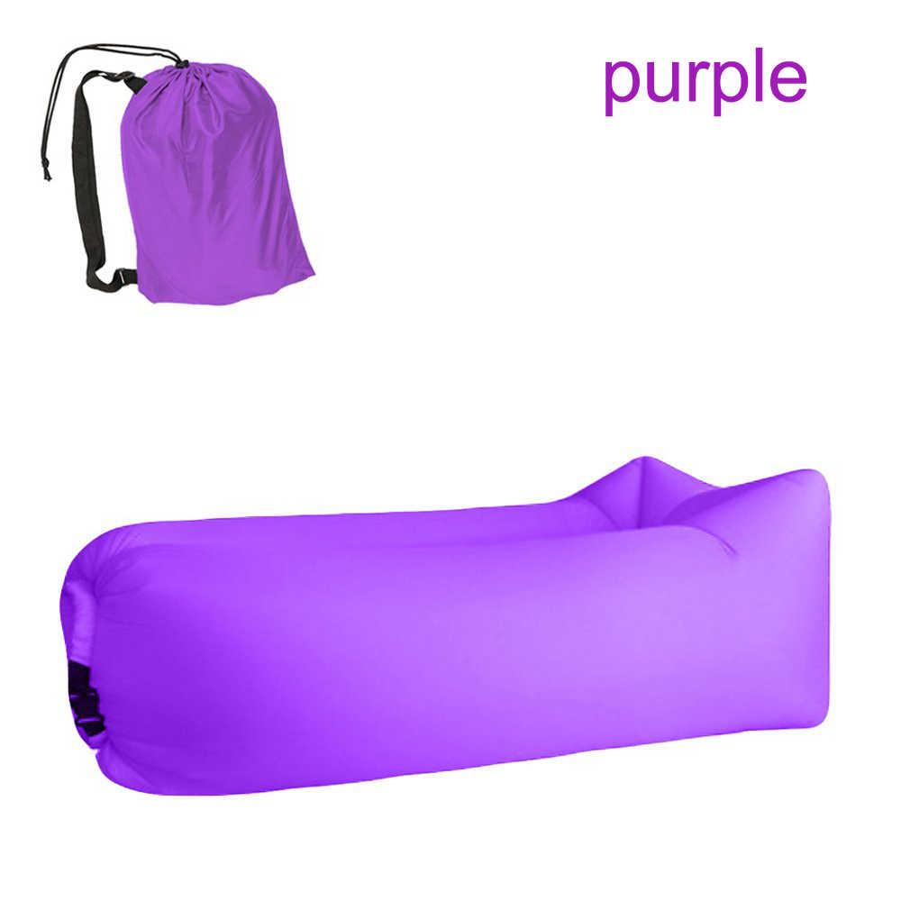 Camping Inflatable โซฟา Lazy กระเป๋า Ultralight ลงถุงนอนไนล่อนเตียงสำหรับ dropshipping ยอดนิยมผลิตภัณฑ์ 2019