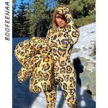 BOOFEENAA-Mono de manga larga con estampado de leopardo para mujer, ropa Sexy de una pieza para fiesta y Club, C85-CZ27, 2020