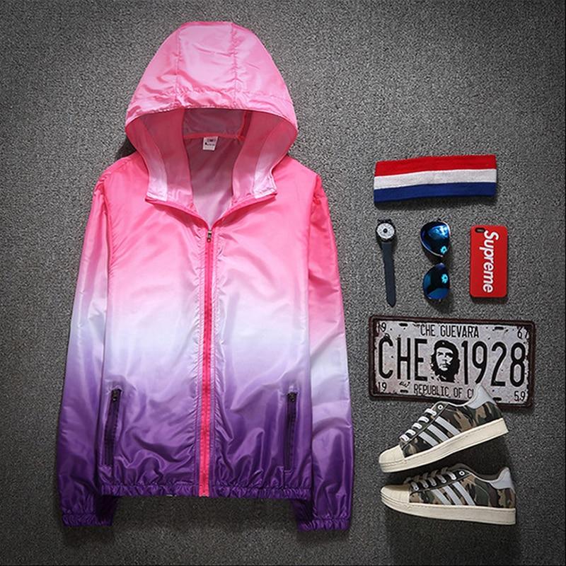 2021 Autumn Jacket for Women Hooded Patchwork  Women's Spring Windbreaker Light with Zipper Hooded Female Coat Outwear 2