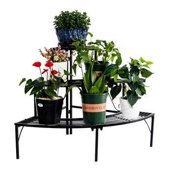 3 Tier Quarter Round Plant Corner Shelf Stand Outdoor