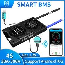 Bms intelligent Lifepo4, pour batterie au lithium, 4s, 3.2V, 12V, a, 200a, 30a, 40a, 60a, bluetooth, UART, usb vers PC, terminal Ntc