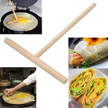 Тепло стиль 5 дюймов блинница блинное тесто деревянный распорка палка домашний кухонный инструмент DIY ресторан столовая специально поставки