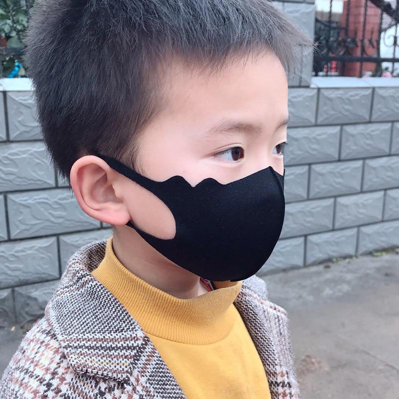 Children Breathable Anti-Pollution Virus 3D Mask Dustproof Anti-Pollution Ice Silk Mask Kids PM2.5 Washable Reusable Respirator