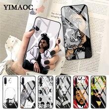 YIMAOC Hip Hop Rapper Dope Print Rubber Glass Case for Xiaomi Redmi 4X 6A note 5 6 7 Pro Mi 8 9 Lite A1 A2 F1