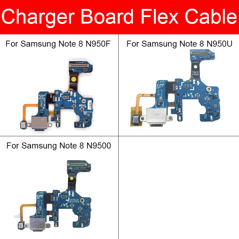 Usb Charger Board For Samsung Note 8 N950F N950N N950U N9500 N9508 USB Charging Jack Port Connector Board Flex Cable Repair