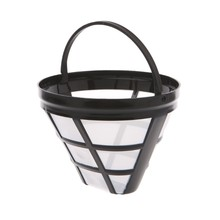Filtro de café reutilizável cesta copo estilo máquina de café filtro malha